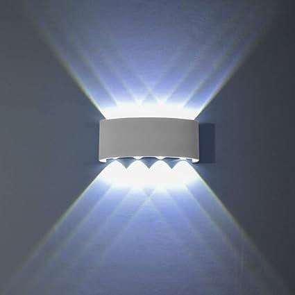 PHOEWON 8W LED Interno Esterno Bagno Lampada da Parete/Faretto da  Parete/Lampada da Parete/Illuminazione A Parete, in Alluminio Resistente  all\' Acqua ...