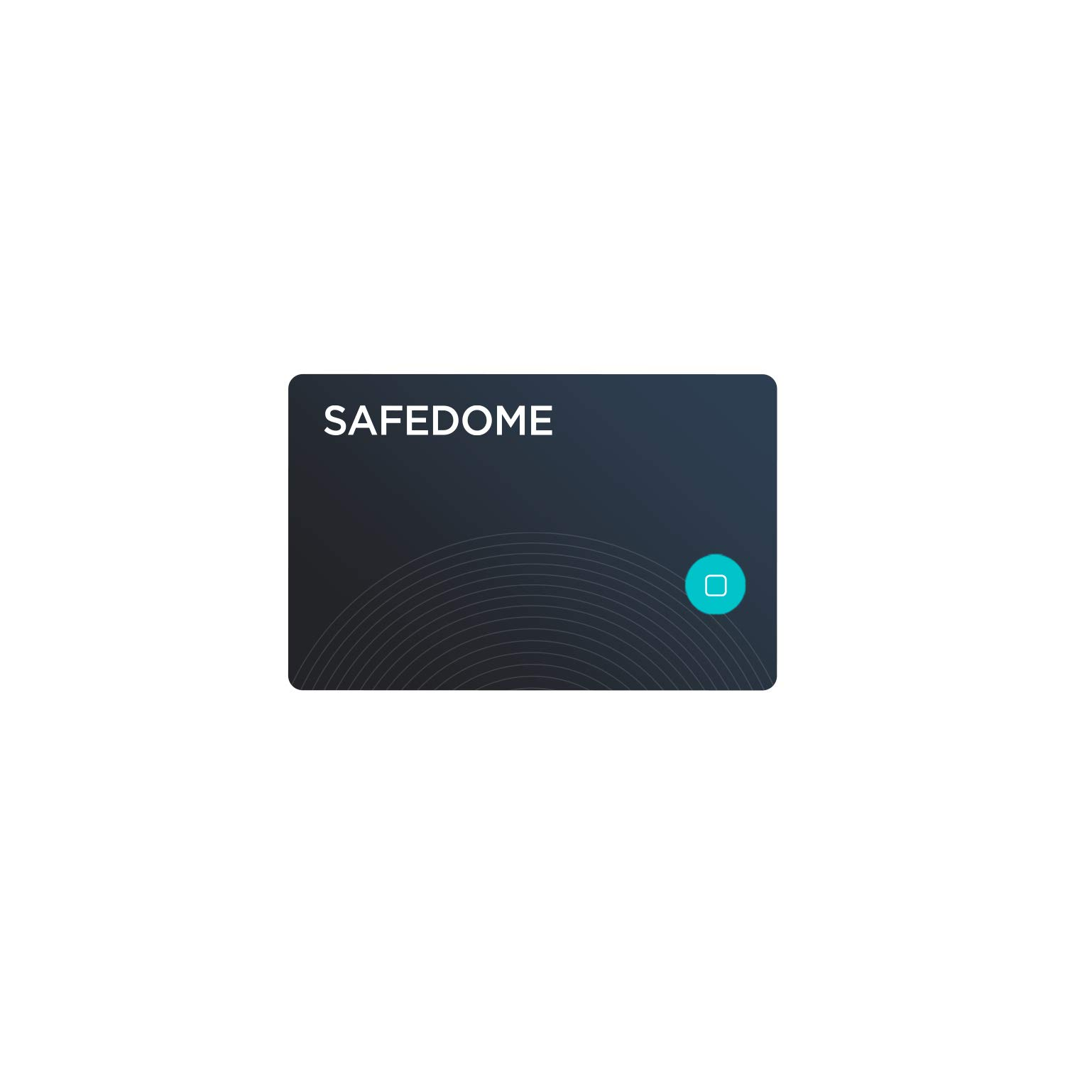 Safedome Recharge Bluetooth Lost Item Tracking Card, Item Finder with GPS-Like Tracking, Slim Water-Resistant Bluetooth Finder for Lost Phone, Wallet, Passport, or Bag, Free Companion App by Safedome