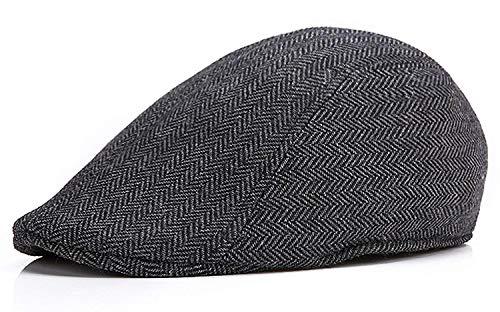 71d2d176745 Men s Herringbone Wool Tweed Newsboy Ivy Cabbie Driving Hat