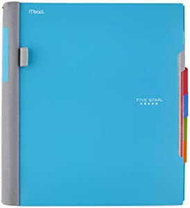 Five Star Advance Spiral Notebook, 5 Subject, College Ruled Paper, 200 Sheets, 11 x 8-1/2 inches, Teal (73152)