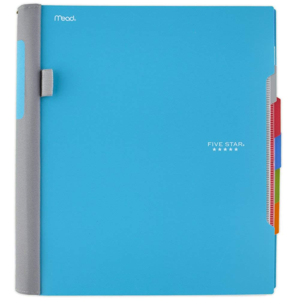 Five Star Advance Spiral Notebook, 5 Subject, College Ruled Paper, 200 Sheets, 11 x 8-1/2 inches, Teal (73152) by Five Star