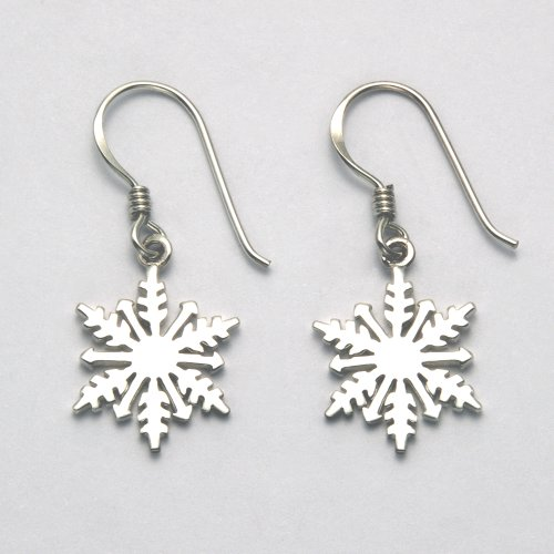 Sterling Silver Snowflake French Wire Earrings