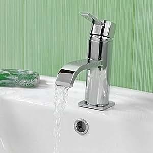 Enki curvado ultra moderno lavabo grifo mezclador - Grifos modernos bano ...