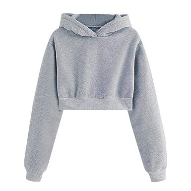 get cheap 76dad 52304 HWTOP Damen Oberteil Hemd Löcher Pullover Sport Hoodies ...