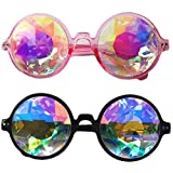 #8: Careonline Festivals Kaleidoscope Glasses Rainbow Prism Sunglasses Goggles