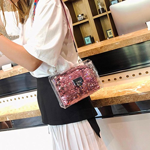 2Pcs Sequins Clutch Messenger Bag Metal Wallet Crossbody Transparent Fashion Shoulder Women Purple Bags Handbag Muium Bags Buckle Ladies qHttPO
