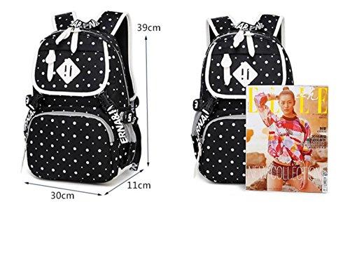 LQABW Student Rucksack Mode Computer Tasche Reise Freizeit Bag Daypack Schultertasche DarkBlue