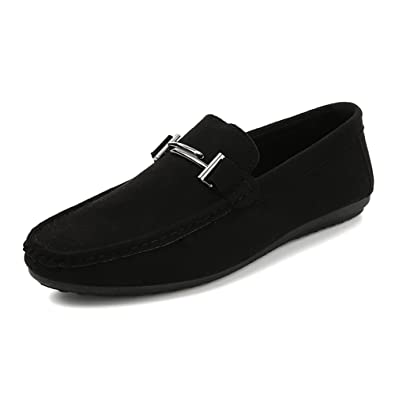 Men's Shoes Suede Formal Shoes Light Soles Loafers & Slip-Ons For Casual Office & Career Outdoor Red Black