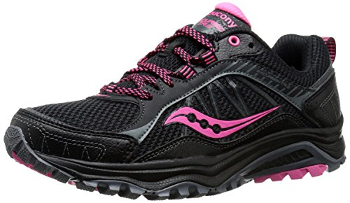 Saucony Women's Grid Excursion TR9 Trail Running Shoe, Black/Pink, 9 M US