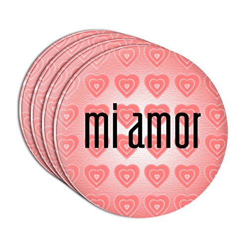 (Mi Amor My Love in Spanish Acrylic Coaster Set of 4)