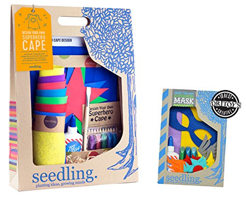 Seedling Bundle Design Your Own Superhero Mask and Cape Blue Boys ()