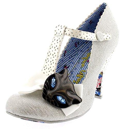 HKM–Metálico Zapatos de plástico plata