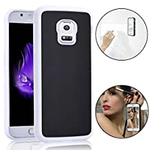 Anti-Gravity Selfie Case for Samsung Galaxy Note 4, Bonice Magical Nano Sticky Hands Free Stick to Glass, Tile, Car GPS, Most Smooth Surface - White & Black