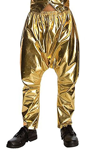 Rubie's Old School Original MC Gold Zubaz Costume Pants]()