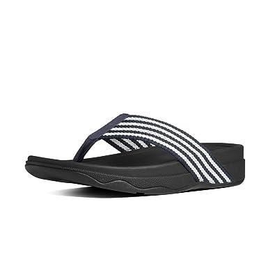 d59a8e84529f41 FitFlop Men s Surfer Sandal Supernavy White - 13