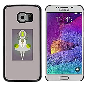 Caucho caso de Shell duro de la cubierta de accesorios de protección BY RAYDREAMMM - Samsung Galaxy S6 EDGE SM-G925 - Being Character Cartoon Monster