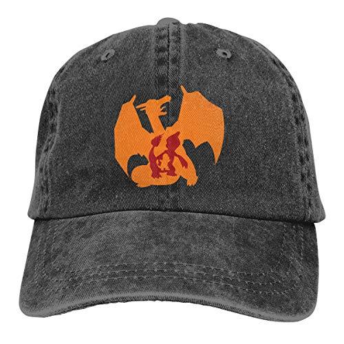 NDFGR Evolution of Charmander Unisex - Adult Cowboy Hat Cotton Adjustable Tactical Cap Black]()
