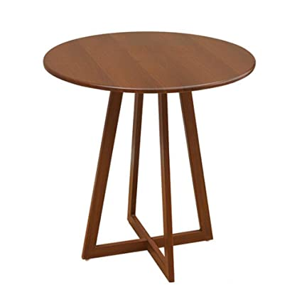 ZZHF Side Table, Round Table, Space Saving Balcony Dining Table,  Negotiating Table,