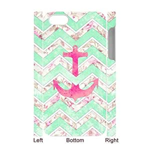 LIULAOSHI Anchor Chevron Retro Vintage Phone Case for iphone4 3D [Pattern-6] by Maris's Diary