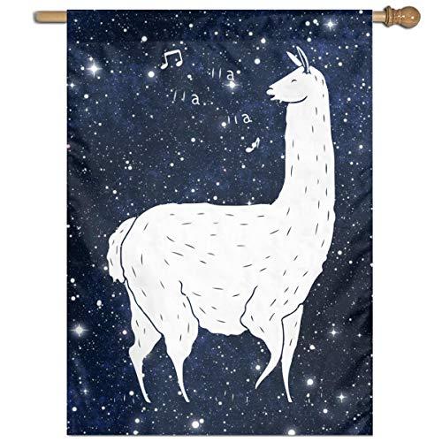MKLNHBGFCH37 Song of The Llama Welcome Garden Flag Yard Flag Family Flag 27