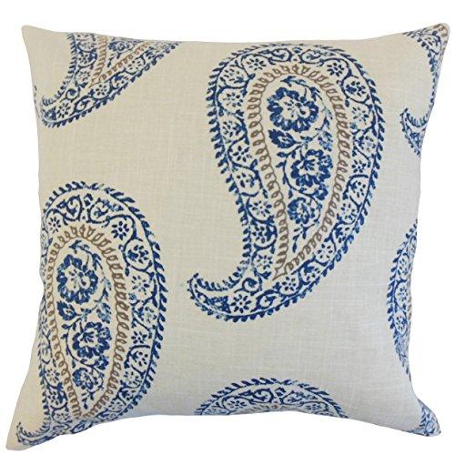 (The Pillow Collection Neith Geometric Bedding Sham Indigo, Euro/26