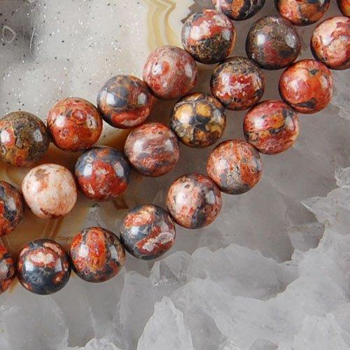 H0609 8mm Leopard Skin Jasper Ball Loose Beads 15