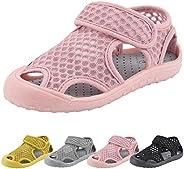 QIMAOO Kids Swim Water Shoes, Boys Girls Barefoot Slip On Aqua Socks Comfort Sole Shoes Lightweight Athletic Q