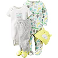 Carter's Unisex Baby 4 Pc Sets 126g361, Yellow, 3 Months