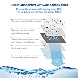 JETERY Faucet Water Filter - 320-Gallon Long-Lasting Tap Water Filtration System Carbon Fiber Filter Home Kitchen, Fits Standard Faucets, JT-5110