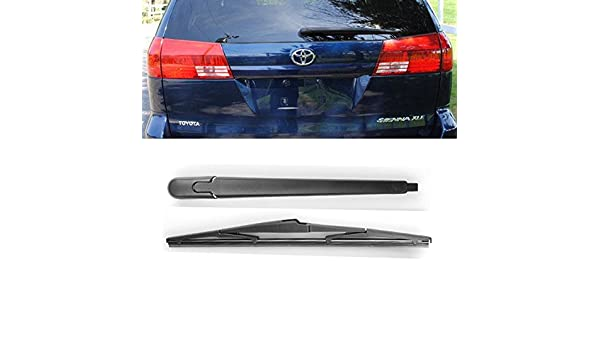 Amazon.com: Brand New For Toyota Sienna 2004 2005 Black Rear Window Windshield Wiper Arm + Blade Set: Automotive