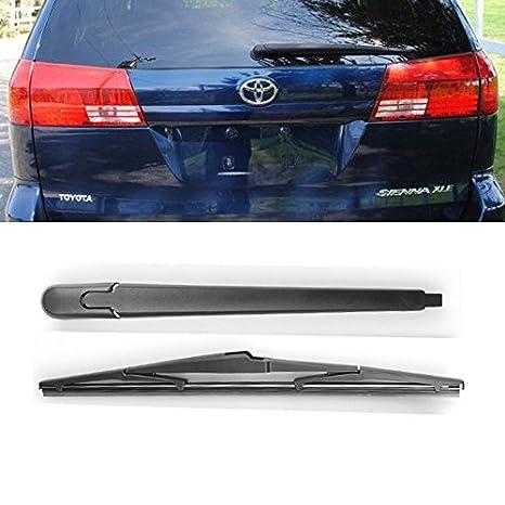 Marca nueva para Toyota Sienna 2004 2005 negro trasero ventana parabrisas brazo del limpiaparabrisas + hoja Set: Amazon.es: Coche y moto