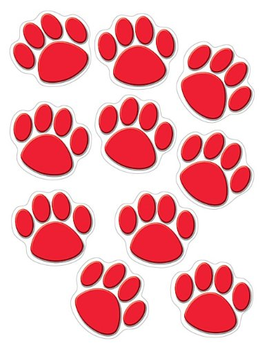 Teacher Created Resources Red Paw Prints Accents (4647) -
