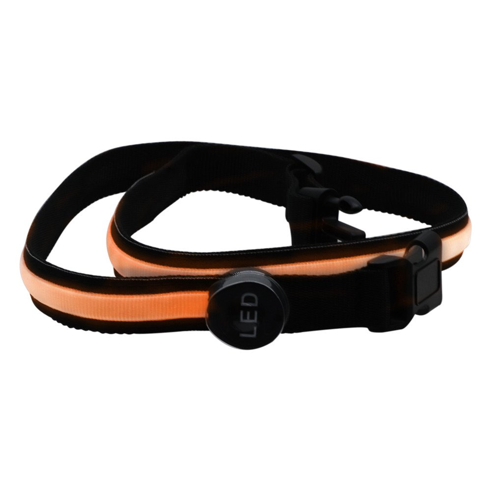 Nrthtri 3Watts 78cm Orange LED Flashing Waistband Safety Reflective Belt Waistband Bicycle Running Hand Accessories Tracksuit