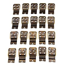 Dophee 20Pcs 38x21mm Antique Jewelry Box Door Spring Hinges Gift Wood Chest Hardware Hinge