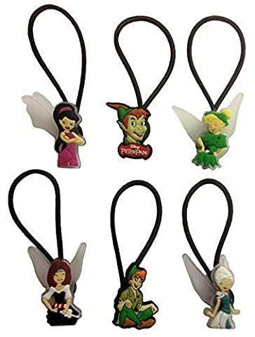 Peter Pan and Tinker Bell Hairband Ponytail Holder 6 Pcs Set #1 - Peter Pan Toy