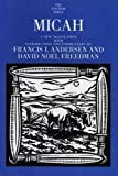 img - for Micah (The Anchor Yale Bible Commentaries) by Francis I. Andersen (2006-09-19) book / textbook / text book