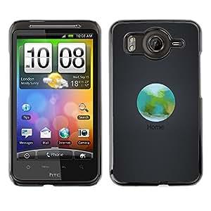 Caucho caso de Shell duro de la cubierta de accesorios de protección BY RAYDREAMMM - HTC G10 - Orbit Inicio La Tierra