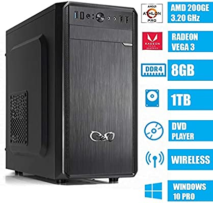 - CEO Alpha V1 WD - Ordenador de Sombremesa AMD 200GE 3.20GHz 4MB Cache | 8GB Ram DDR4 | 1TB Hard Disk |Tarjeta gráfica Radeon Vega 3 | HDMI/VGA Full ...