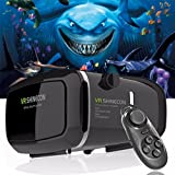 Cheap ZiKON 3D VR Headset Glasses Virtual Reality Mobile Phone 3D Movies for iPhone 6s/6 plus/6/5s/5c/5 Samsung Galaxy s5/s6/note4/note5 and Other 4.7″-6.0″ Cellphones