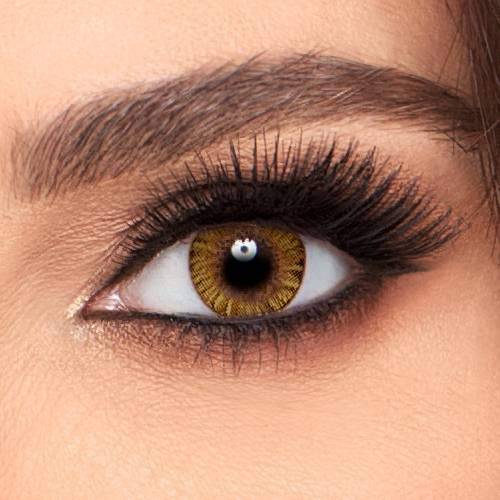 Eyes Color Contacts Case Lens Eyes Cosmetic Makeup Eye Shadow (HONEY)