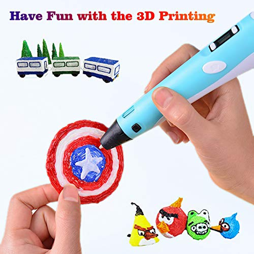 3-D Pen Filament 400 Feet 20 Colors, Glow in The Dark Refills PLA Bonus 250 Stencil eBook, 3-D Pen/Printer Filament 1.75mm Smooth Printing
