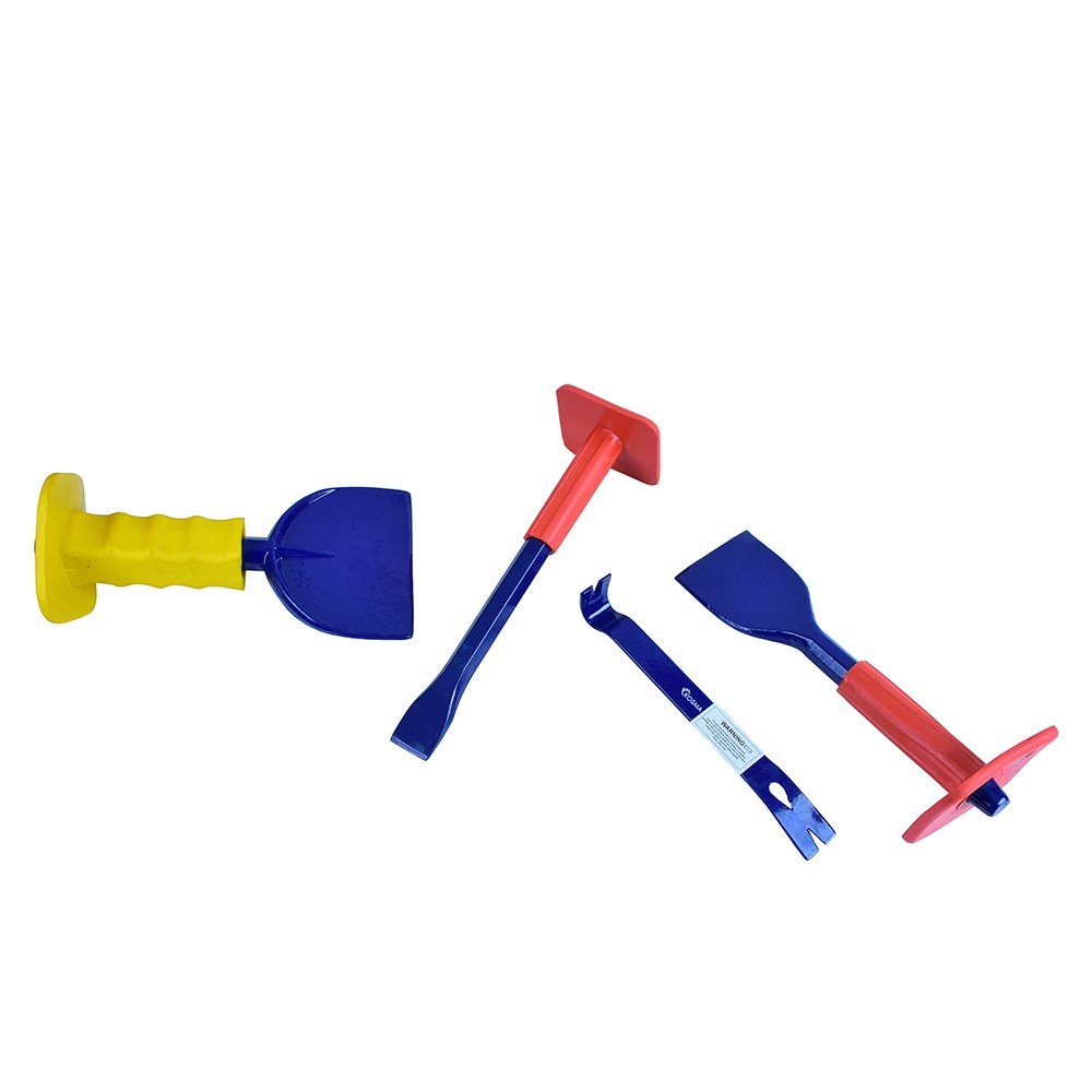 Utility Pry Bar 8 Brick Bolster with Guard 2 1//4 Kosma Set of 4Pc Striking Tool Set /& 4 100mm 60mm Mason Chissel with Guard 16mm x 10