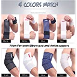 Doshop Universal Sport Compression Cotton Bandage Knee Thigh Ankle Elbow Wrist Calf Joint Support Stretchy Wrap Strap Brace
