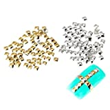 Nail Art rivet-SODIAL(R) Pack of 250 Studs 3D Squares Metal 5mm Color Silver Decorations Nail Art Manicure