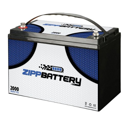 12 Volt 110AH Replacement AGM Solar Battery UB121100 Replaces Group 31 by Zipp Battery