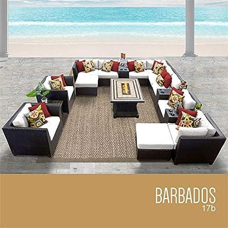 TKC Barbados, juego de 17 sofás de mimbre para patio, color ...