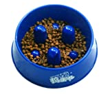 PANDA SUPERSTORE Pet Food Slow Feed Bowl for Dogs Cats (17.56 cm)-Random Color Larger Image