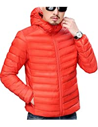 "<span class=""a-offscreen"">[Sponsored]</span>Men's Lightweight Packable Hooded Down Jacket Ultralight Winter Zip Puffer Coat"