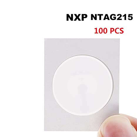 100PCS NFC Tags NTAG215 NFC Stickers NXP NTAG 215 100% Compatible Amiibo  and Tagmo, Fully Programmable and Writable by TimesKey