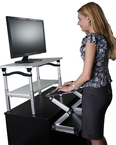 Uncaged Ergonomics Lift Standing Desk Conversion Kit Tall